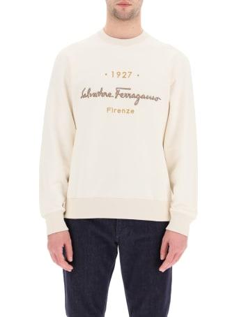 Salvatore Ferragamo 1927 Signature Crewneck Sweatshirt