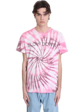 Isabel Marant Zafferh T-shirt In Rose-pink Cotton