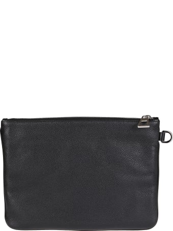 Jimmy Choo Black Leather Pouch