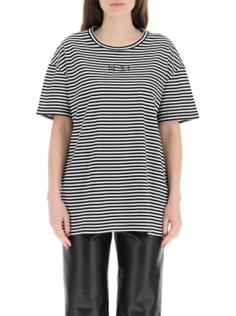 N.21 Striped T-shirt With Logo Pocket