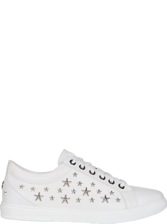 Jimmy Choo White Leather Sneakers