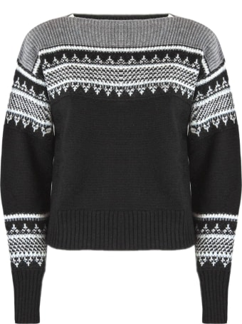 Philosophy di Lorenzo Serafini Black Merino Wool Sweater