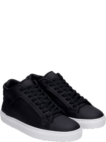Etq Mt 02 Sneakers In Black Leather