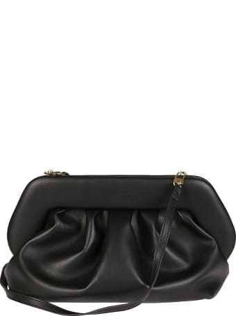 THEMOIRè Black Faux-leather Clutch Bag