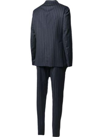 Tagliatore Blue Wool-cashmere Suit