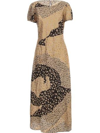RIXO Dress S/s Crew Neck Leopard