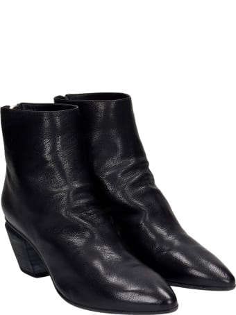 Officine Creative Severine 008 High Heels Ankle Boots In Black Leather