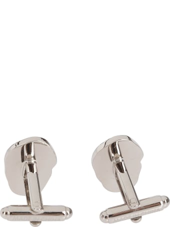 Alexander McQueen Silver-tone Metal Skull Cufflinks
