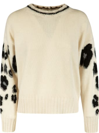 Vivetta Sleeve Leopard Knit Sweater