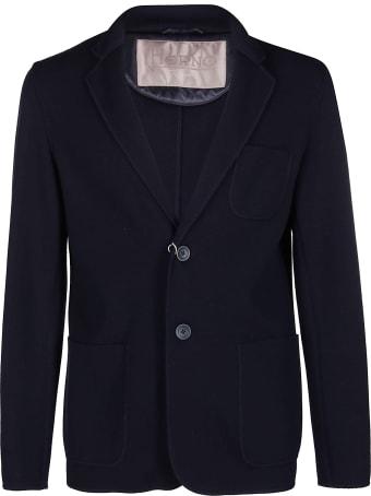 Herno Blue Wool Cardigan