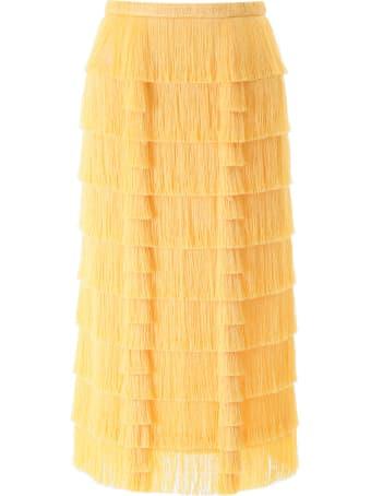 Marco de Vincenzo Fringed Midi Skirt