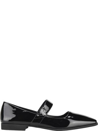 Prada Patent Leather Ballarina Shoes