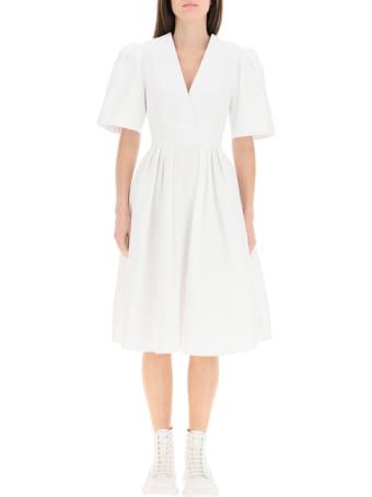 Alexander McQueen Cotton Piquet Midi Dress