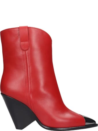 The Seller Ankle Boots In Red Leather