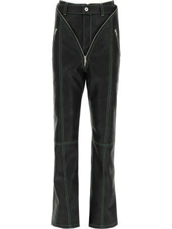 Y/Project V Faux Leather Trousers