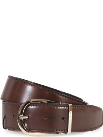 Moreschi Brown Leather Belt