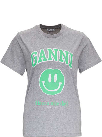 Ganni Jersey T-shirt With Logo Print
