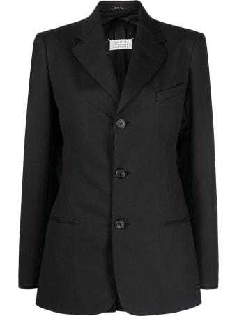 Maison Margiela Black Wool-blend Blazer