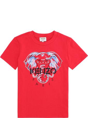 Kenzo Kids Printed Cotton T-shirt