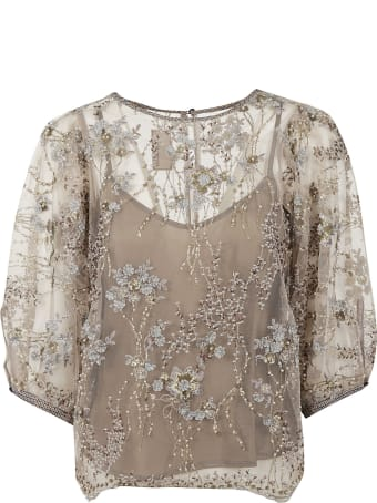 Antonio Marras Floral Lace Top