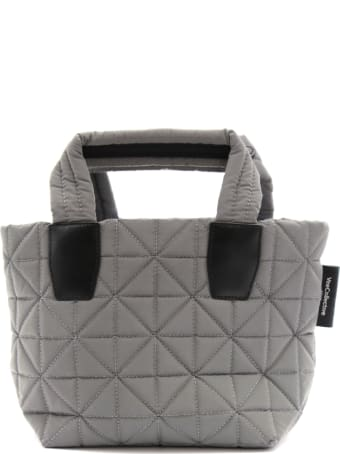 VeeCollective Small Grey Vee Tote Bag In Recycled Nylon