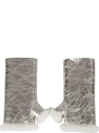 Yves Salomon Fur Detail Gloves