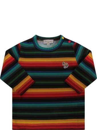 Paul Smith Junior Multicolor Babyboy T-shirt With Zebra
