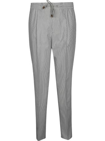 Brunello Cucinelli Drawstring Waist Striped Trousers