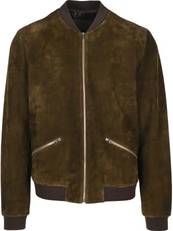 Prada Suede Bomber Jacket