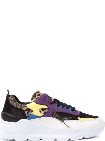 D.A.T.E. Multicolor Fuga Leopard Mesh & Suede Sneaker