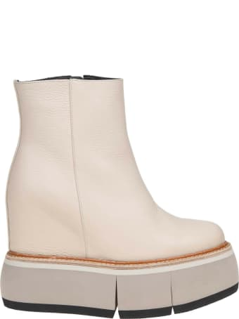 Paloma Barcelò Paloma Barcelo 'beige Colored Leather Ankle Boot