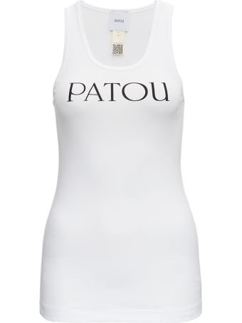 Patou Cotton Tank Top With Logo Print