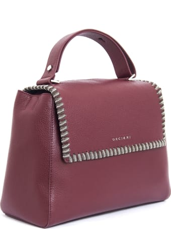 Orciani Bordeaux Leather Sveva Bag