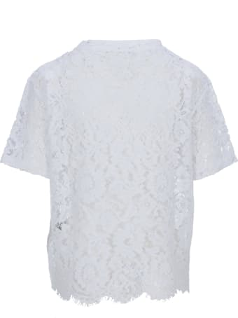Valentino Logo Print Lace-layered T-shirt