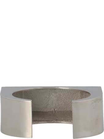 Rick Owens 'crystal Beveled Bangle' Bracelet