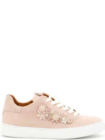 Black Dioniso Flower Sneakers