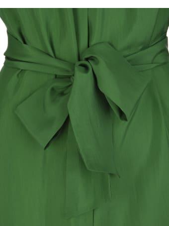 Kiton Prato Green Silk Shirt Silk Maxi Dress