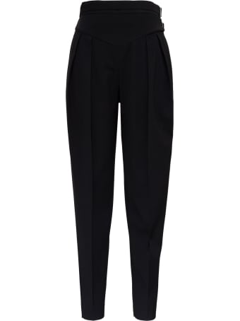 RED Valentino High Waisted Pants In Viscose Blend With Double Belt