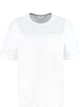 Fendi Cotton Crew-neck T-shirt