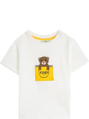 Fendi Jersey T-shirt With Ff Bear Print
