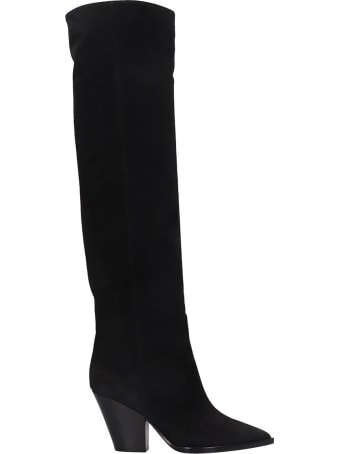 Lerre High Heels Boots In Black Leather