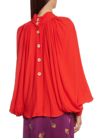 A.W.A.K.E. Mode Red Smock Top