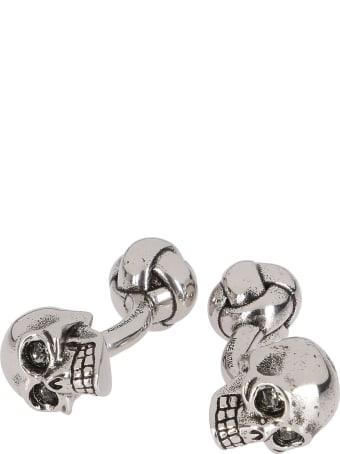 Alexander McQueen Silver-tone Brass 3d Skull Cufflinks