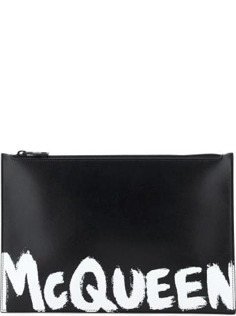 Alexander McQueen Flat Pouch Graffiti Logo