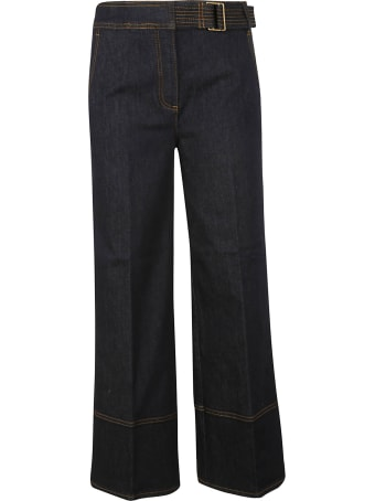 Tory Burch Wide Leg Denim Jeans