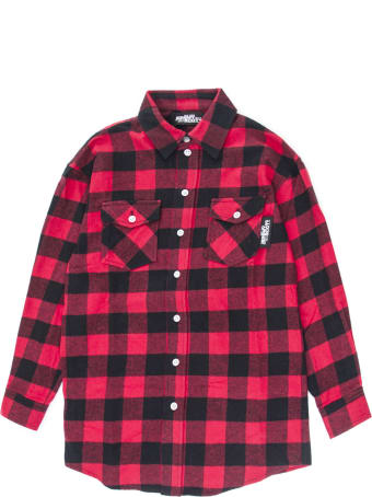 Jeremy Scott Black And Red Checked Shirt