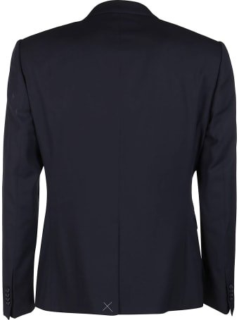 Giorgio Armani Navy Blue Wool Two-piece Suit