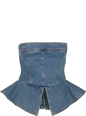 Philosophy di Lorenzo Serafini Philosophy Denim Bustier Top