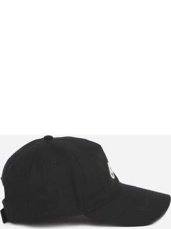 Moncler Cotton Baseball Cap With Logo Detail