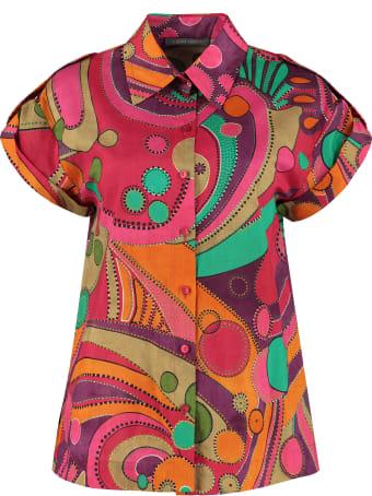 Alberta Ferretti Printed Cotton Shirt